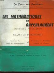 Les Mathematiques Au Baccalaureat - Classe De Philosophie - Couverture - Format classique