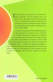 Tests De Culture Generale Plus De 400 Qcm Avec Corriges Et Explications - 4ème de couverture - Format classique