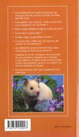 Petits animaux de compagnie t.1 ; cochon ; d'inde ; hamster ; furet - 4ème de couverture - Format classique