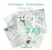 Critique génétique ; cahier t.1 - Couverture - Format classique