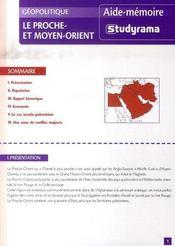 Le Proche Et Moyen-Orient - Intérieur - Format classique