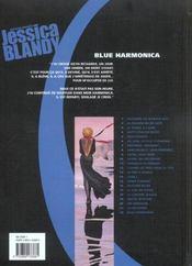 Jessica Blandy T.22; Blue Harmonica - 4ème de couverture - Format classique