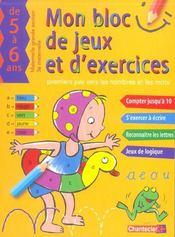 Mon Bloc De Jeux Et D'Exercices - Nombres Et Mots (5-6 A.) - Intérieur - Format classique
