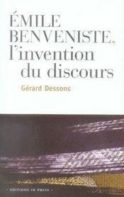 Emile Benveniste : L'Invention Du Discours - Intérieur - Format classique