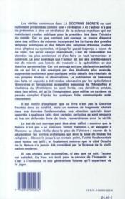 La doctrine secrète t.4 - 4ème de couverture - Format classique