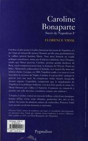 Caroline Bonaparte, Soeur De Napoleon Ier - 4ème de couverture - Format classique