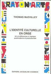 L'identite culturelle en crise - Intérieur - Format classique