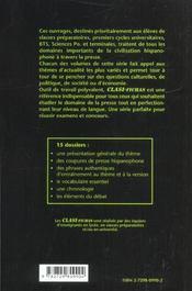 Classi-Fichas 1 Les Dossiers Classes De La Presse Hispanophone - 4ème de couverture - Format classique