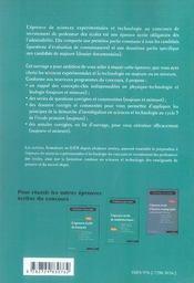 L'épreuve écrite de sciences expérimentales et technologie ; composantes majeure et mineure (3e édition - 4ème de couverture - Format classique