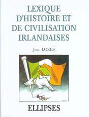 Lexique D'Histoire Et De Civilisation Irlandaises - Intérieur - Format classique
