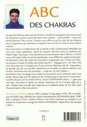 Abc des chakras - 4ème de couverture - Format classique