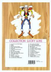 Lucky Luke t.25 ; la ville fantôme - 4ème de couverture - Format classique