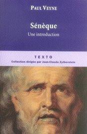 Sénèque ; une introduction - Intérieur - Format classique