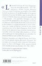 Sénèque ; une introduction - 4ème de couverture - Format classique