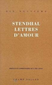 Lettres D'Amour  - Stendhal