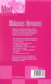 Malaises féminins - 4ème de couverture - Format classique