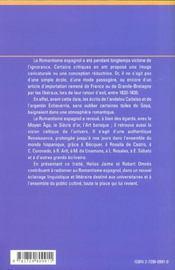 Le Romantisme En Espagne - 4ème de couverture - Format classique