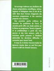 Savoir Et Ignorer Platon Flaubert Brecht L'Epreuve De Francais Prepas Scientifiques 1999-2001 - 4ème de couverture - Format classique