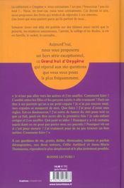 Un Grand Bol D'Oxygene. 160 Questions Strictement Reservees Aux Ados - 4ème de couverture - Format classique