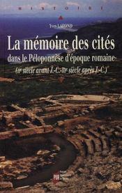 La mémoire des cités dans le péloponnèse d'époque romaine (ii siècle av j.-c. - iii siècle après j.-c.) - Intérieur - Format classique