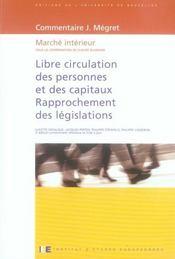 Libre circulation des personnes et des capitaux (3e édition) - Intérieur - Format classique