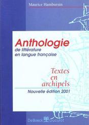 Anthologie - Intérieur - Format classique