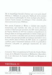 La Voix D'Heloise ; Un Dialogue De Deux Amants - 4ème de couverture - Format classique
