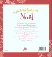 Les plus belles histoires de Noël - 4ème de couverture - Format classique