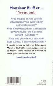 Monsieur bluff et l economie - 4ème de couverture - Format classique