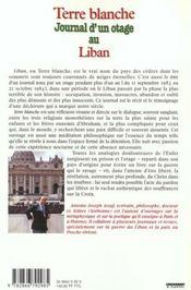 Terre blanche journal d' un otage au liban - 4ème de couverture - Format classique