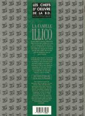 Chefs d'oeuvre BD populaire t.3 ; la famille Illico - 4ème de couverture - Format classique