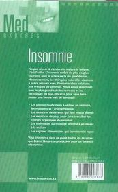 Insomnie - 4ème de couverture - Format classique