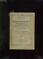 Notice Sur Les Ecoles Secondaires Ecclesiastiques Du Diocese D Angouleme Au Xix Siecle. - Couverture - Format classique