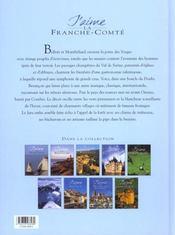 J'aime la Franche-Comté - 4ème de couverture - Format classique