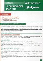 La guerre froide, 1947-1991 - Intérieur - Format classique