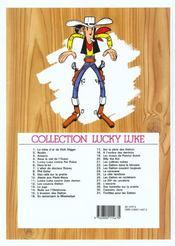 Lucky Luke t.27 ; le 20ème de cavalerie - 4ème de couverture - Format classique