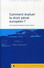 Comment évaluer le droit pénal européen ? - Intérieur - Format classique