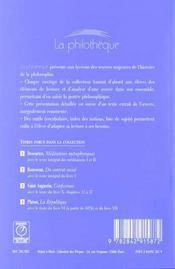 La Republique (Platon) - 4ème de couverture - Format classique