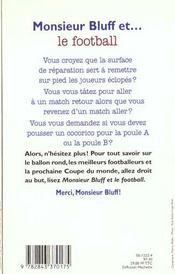 Monsieur Bluff Et ... Le Football - 4ème de couverture - Format classique