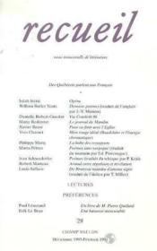 Recueil N.29 - Couverture - Format classique