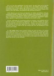 Cuisine Vegetarienne (La) - 4ème de couverture - Format classique