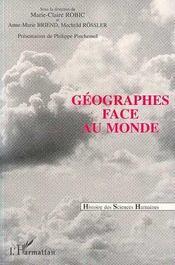 Géographes face au monde - Intérieur - Format classique