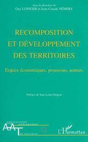 Recomposition et développement des territoires : enjeux économiques, processus, acteurs - Intérieur - Format classique