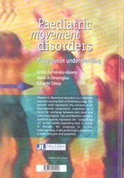 Paediatric Movement Disorders - 4ème de couverture - Format classique