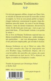 N.P - 4ème de couverture - Format classique