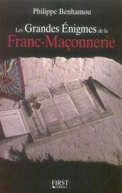 Les grandes énigmes de la franc-maçonnerie - Intérieur - Format classique
