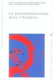 Le postocommunisme dans l'histoire - Intérieur - Format classique