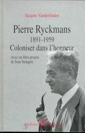 Pierre Ryckmans 1891-1959 - Couverture - Format classique