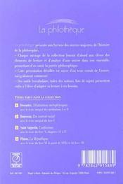 Meditations Metaphysiques (Descartes) - 4ème de couverture - Format classique