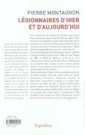 Legionnaires D'Hier Et D'Aujourd'Hui - 4ème de couverture - Format classique